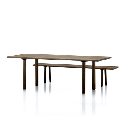 Vitra - Wood Table / Bench, oak smoked solid, 2200 mm