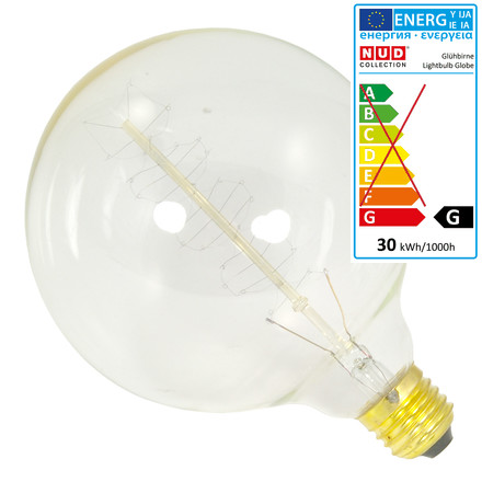 NUD Collection - Globe Bulb, 125 mm, E27, 40W