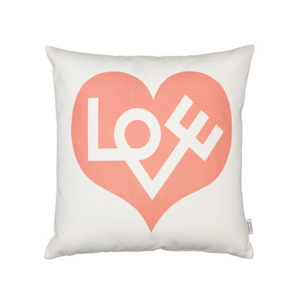 Vitra - Graphic Print Pillows Love Heart grey pink 40 x 40