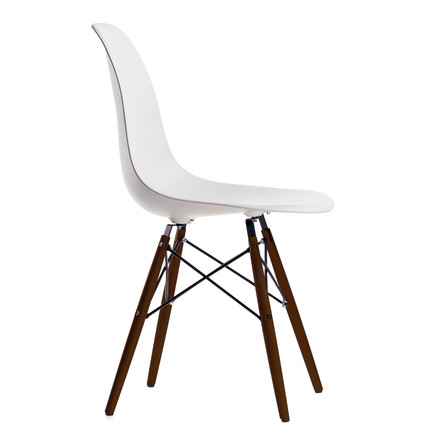Vitra - Eames Plastic Side Chair DSW, Marple dark / white - single image