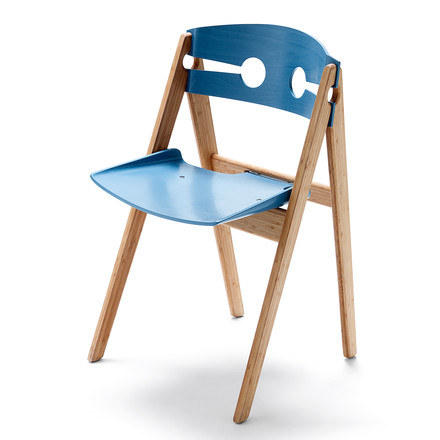 We do wood - Dining Chair no. 1, blue