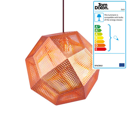 Tom Dixon - Etch pendant fitting, copper