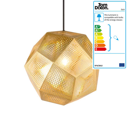 Tom Dixon - Etch pendant fitting, brass
