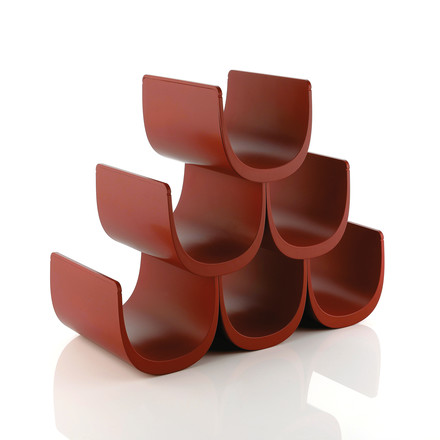Alessi - Noè Modular bottle rack with modular system, dark red