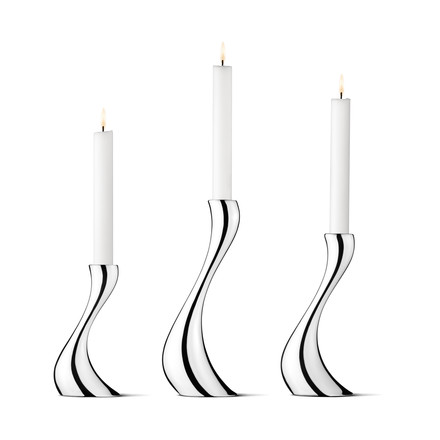 Georg Jensen - Cobra Candleholder, Set of 3
