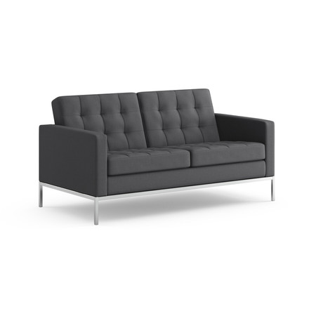 Knoll - Florence Sofa 2-seats - fabric Hopsack, charcoal, single image