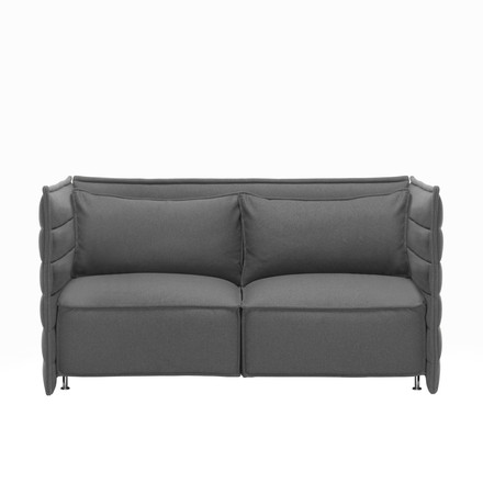 Vitra - Alcove Plume Sofa, 2 seats, without pillow, dark-grey - single image