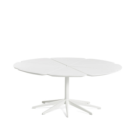 Knoll - Petal white side table