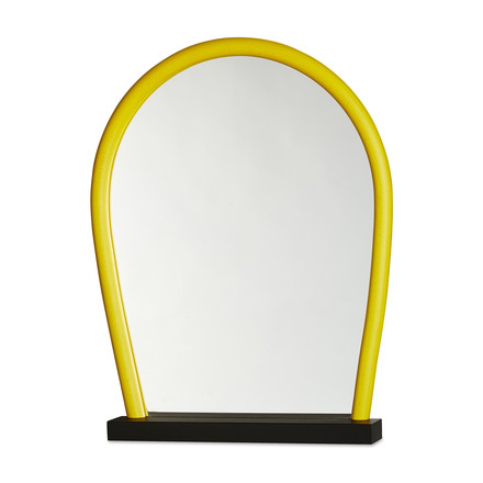 Hay - Bent Wood Mirror, black / yellow