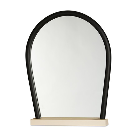 Hay - Bent Wood Mirror, beech / black