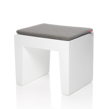 Fatboy - Concrete seat, white, cushion graphite-grey