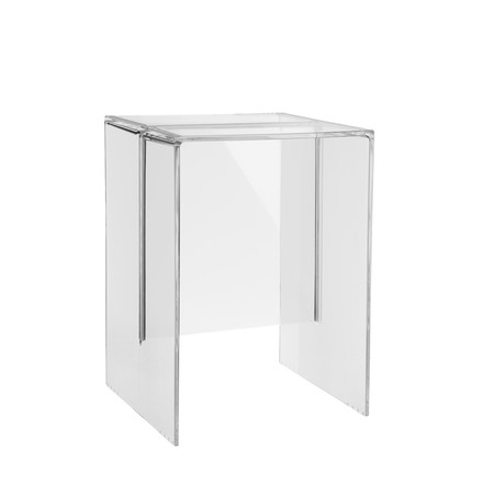 Kartell - Max-Beam Stool / Side Table, transparent crystal clear