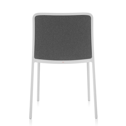 Kartell - Audrey Soft Chair without arm-rests, white / grey