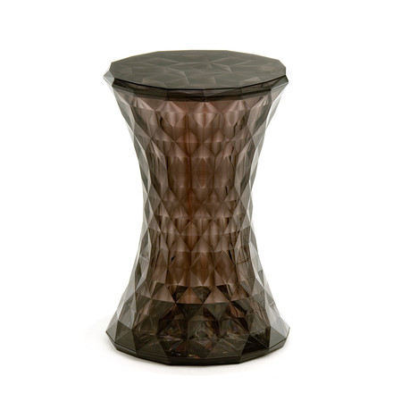 Kartell - Stone Side Table and Stool, fumé