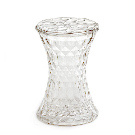 Kartell - Stone Side Table and Stool, crystal-clear