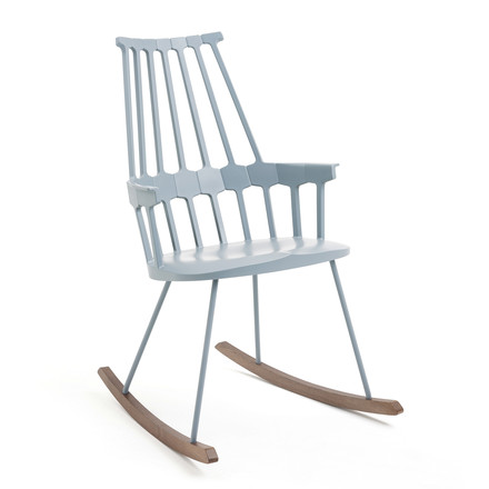 Kartell - Comback Rocking Chair, powder blue