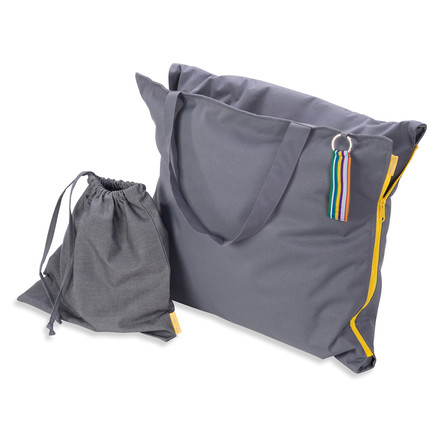 Hhooboz - Pillowbag, 150 x 62 cm, grey