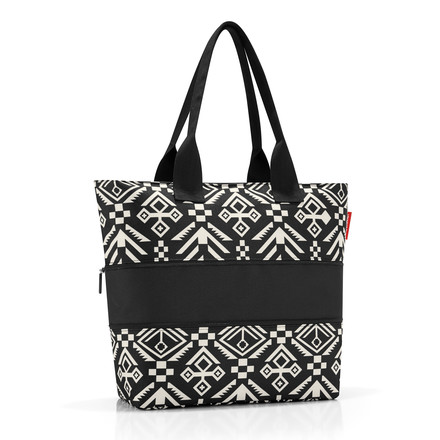 reisenthel - shopper e1 hopi black, volume of 18 litres