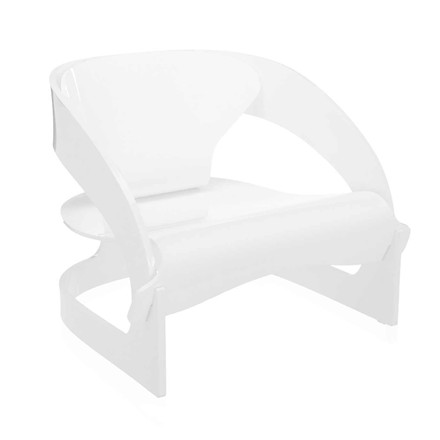 Kartell - Joe Colombo Armchair, white - inclined
