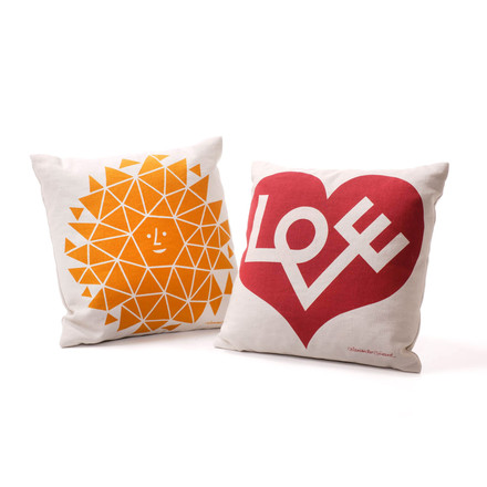 Alexander Girard Love Cushion