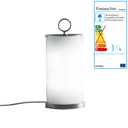 FontanaArte - Pirellina Table Lamp, 17 x 8 x 39 cm