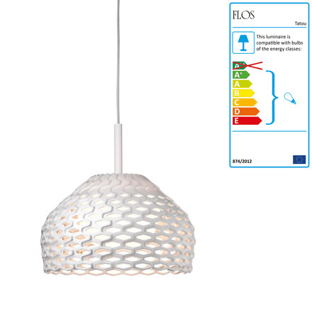 Flos - Tatou S1 Pendant Lamp, white