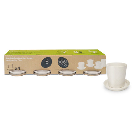8pandas - Espresso-Set, 8 pieces, white