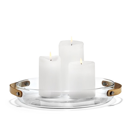 Holmegaard - Design with light Candle Plate, 24 cm