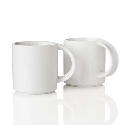 Stelton - EM Mug, white, Set of 2