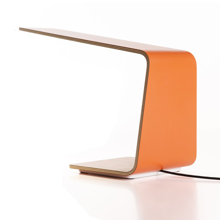 Led 1 table lamp by Tunto in orange