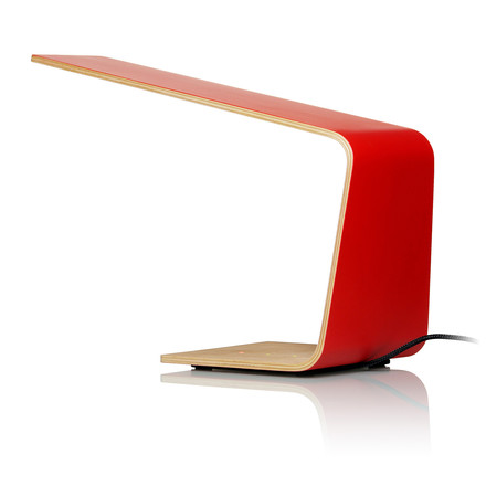 Led 1 table lamp by Tunto in red