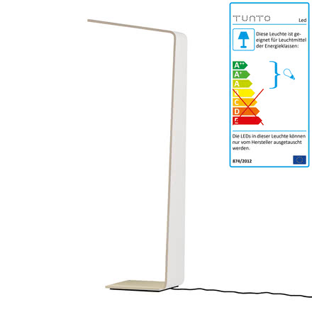 Led 2 floor lamp by Tunto in white