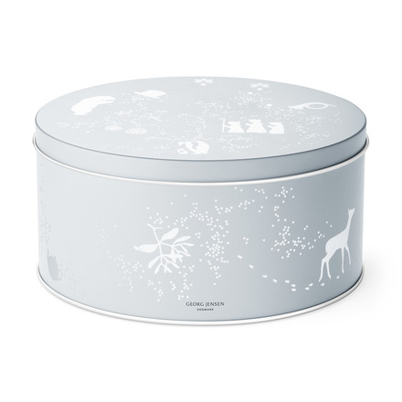 Georg Jensen - December Tales Biscuit Barrel with Biscuit Cutter