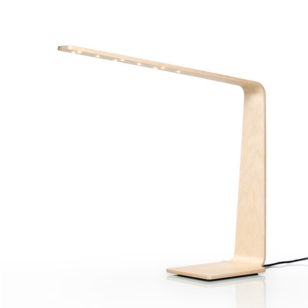 Led 4 table lamp by Tunto in birch wood