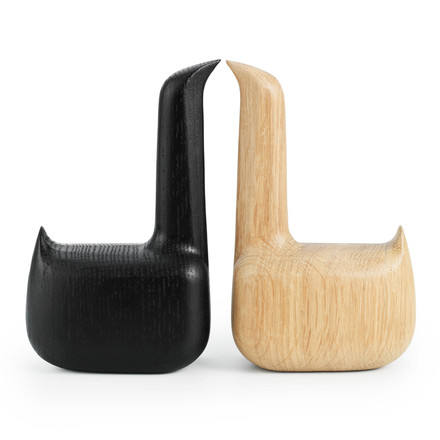 Normann Copenhagen - Swan oak and black, vis-à-vis