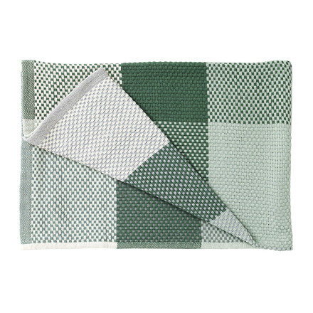 Muuto - Loom Throw, green, folded