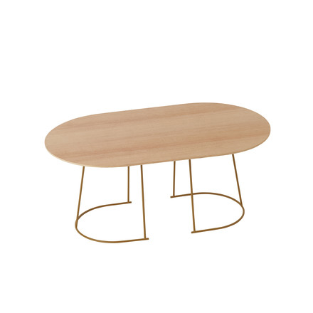 The Airy Coffee Table, medium in oregon pine by Muuto