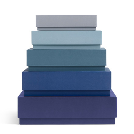 Hay - Box Box Desktop Set of 5, blue