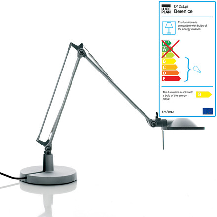 Luceplan - Berenice Table Lamp D12 EL pi., aluminium