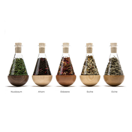 urbanature - stehauf herbage bottle, 5 pieces, kinds of wood