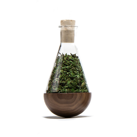 urbanature - stehauf herbage bottle, walnut