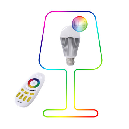 Moree - 9W RGBW Multicolor LED + remote
