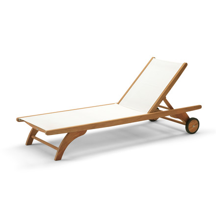 Skagerak - Columbus Sun Bed, teak / white