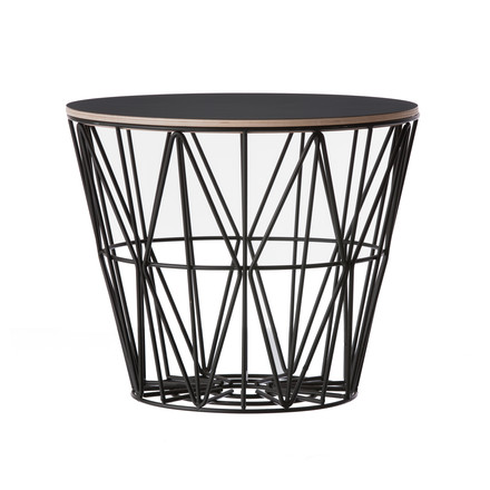 ferm Living - Wire Basket Top, black