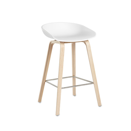 Hay - About A Stool AAS 32, frame oak (soaped) / white H65