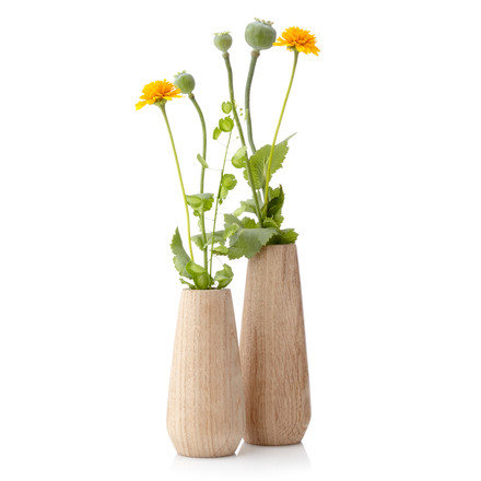 Applictata - Torso Vases, oak, flowers