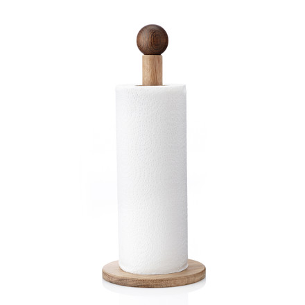 Applicata - Clown Paper Towel Holder, smoked oak
