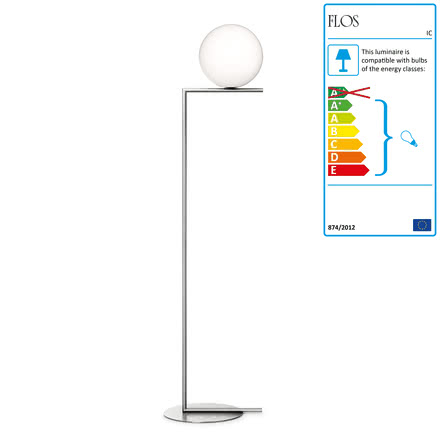 Flos - IC F2 BRO Floor Lamp, chrome