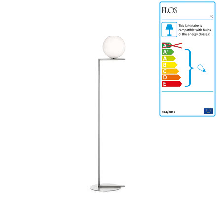 Flos - IC F1 BRO Floor Lamp, chrome