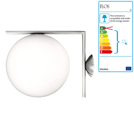 Flos - IC C/W2 BRO Ceiling- and Wall Lamp, chrome
